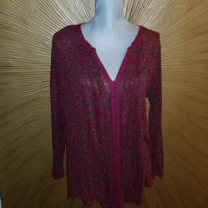 Lucky Brand patterned tunic